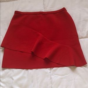 Red skirt. Worn once.